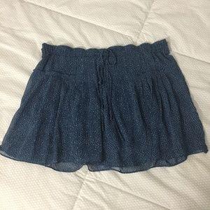 Flirty Short Navy Blue Skirt